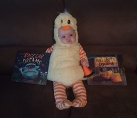 Sophia duck and books