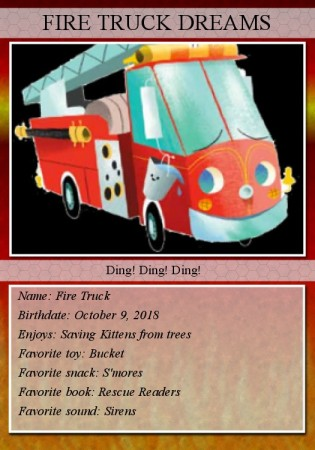 Fire Truck trading card front