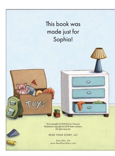 Sophia dedication page
